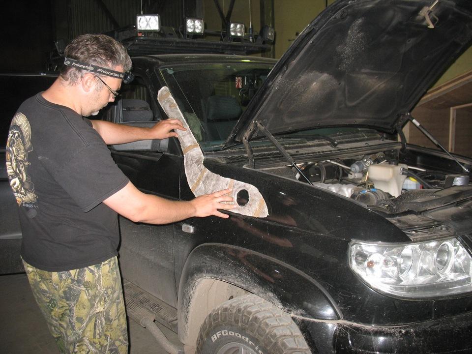 Воздухозаборник - шноркель для УАЗ Патриот