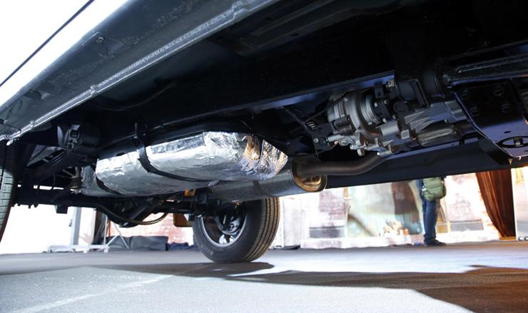 Защита бензобака на УАЗ Патриот
